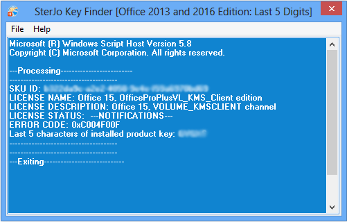 windows office 16 product key